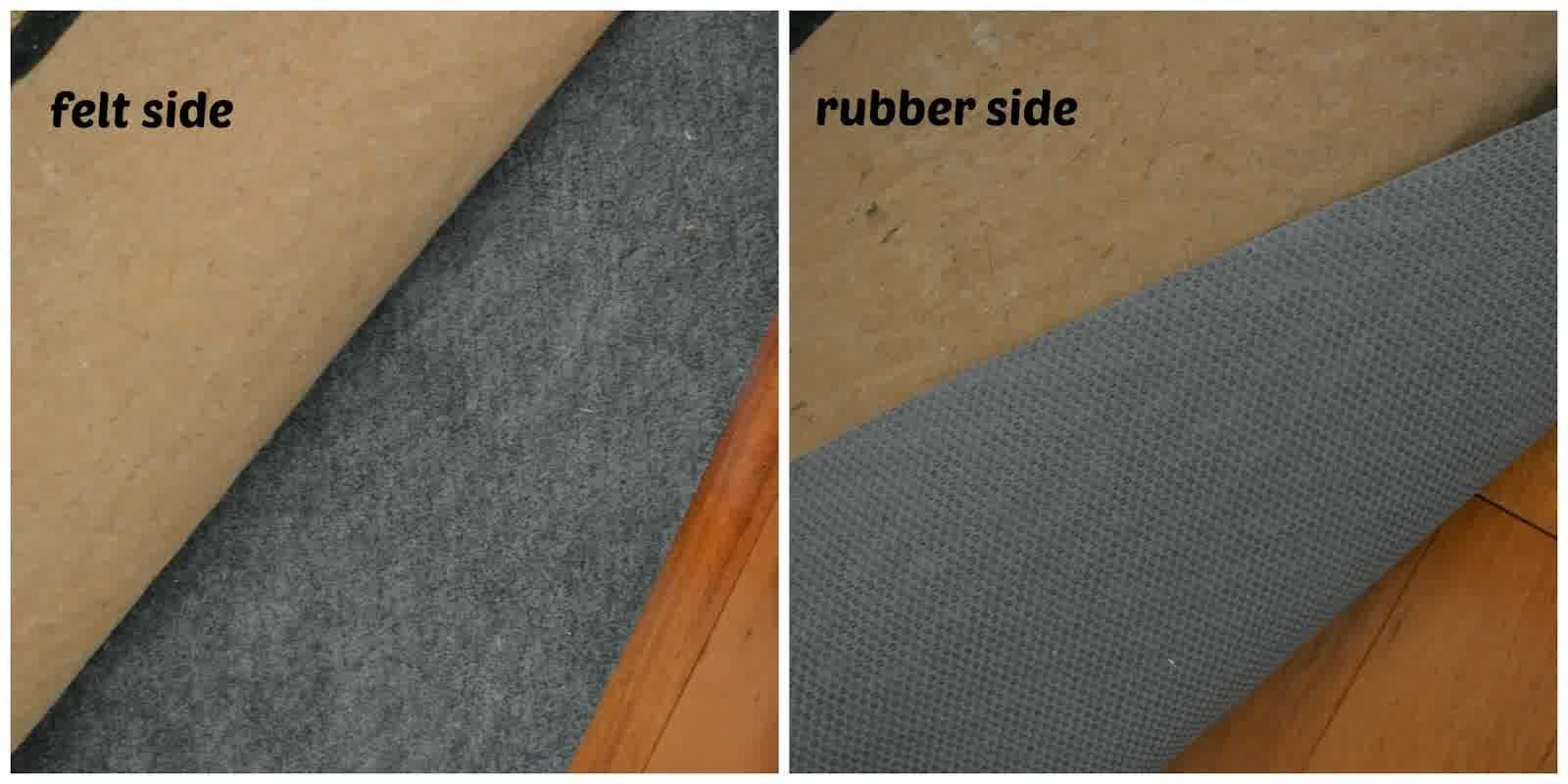 Best Rug Pads For Hardwood Floors Of Rubber Side And Felt Side