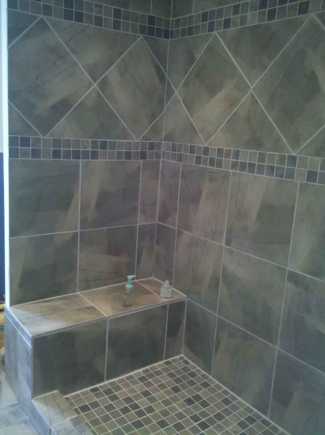 Best Tile For Shower Floor In Grey And Ceramic Tiles Wall Stylish Bathroom