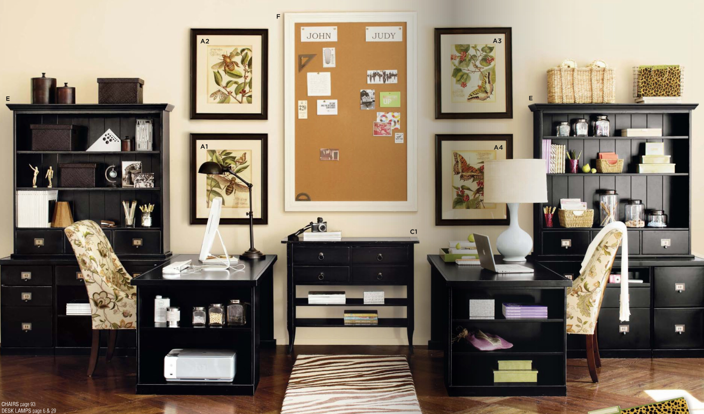 Rousing and smart home office ideas with 2 person desk at for How to decorate desk in office