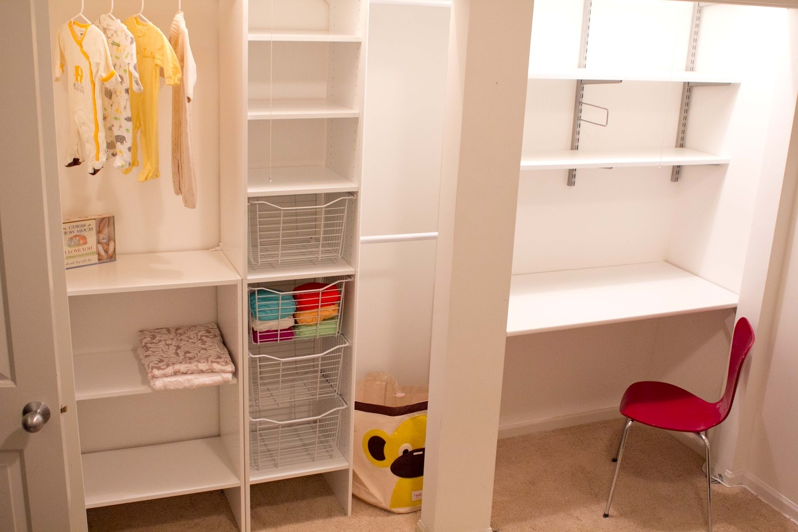 A Dazzling Closet Organizer With The Shelf With Hanging Rods Homesfeed