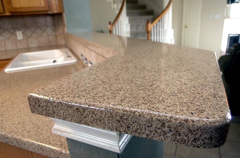 Cheap Countertop Options With Granite And Sink Plus Kitchen Backsplashes  And Wooden Cabinets