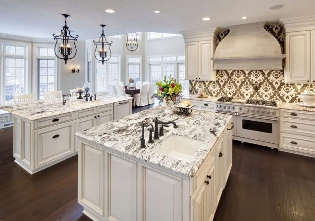 classic-nice-elegant-cute-marble-look-countertop-with-nice-white-concept-with-black-beautiful-ornament-with-dark-flooring-for-modern-home