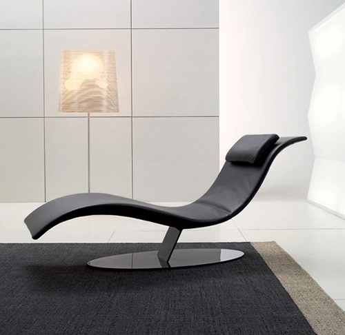 curve reclining comfy bedroom chair in black tone upon black
