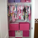closet organizer for kids with shelf with hanging rod and pink storage plus dool for home furniture ideas