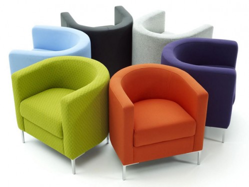 Ordinaire Colorful Modern Bedroom Chairs For Comfortable Seating In Orange Purple  Green Blue Black And White With