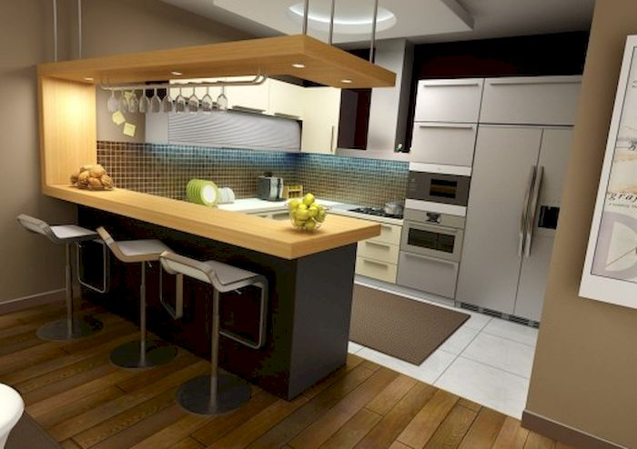 contemporary kitchen design with wood top kitchen island three barstools  white porcelain countertop metal surface electric. Home Depot Kitchen Design Tool   HomesFeed