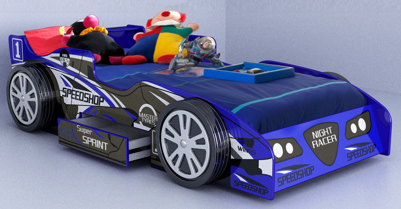 Fun Bedroom Ideas for Toddlers with Car Beds Which Will Impress ...