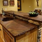 cool cheap countertop options with marble and retro wooden cabinets and sinks for traditional kitchen style connected to dining room