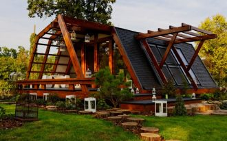 cool energy efficient home idea with open spaces and open windows