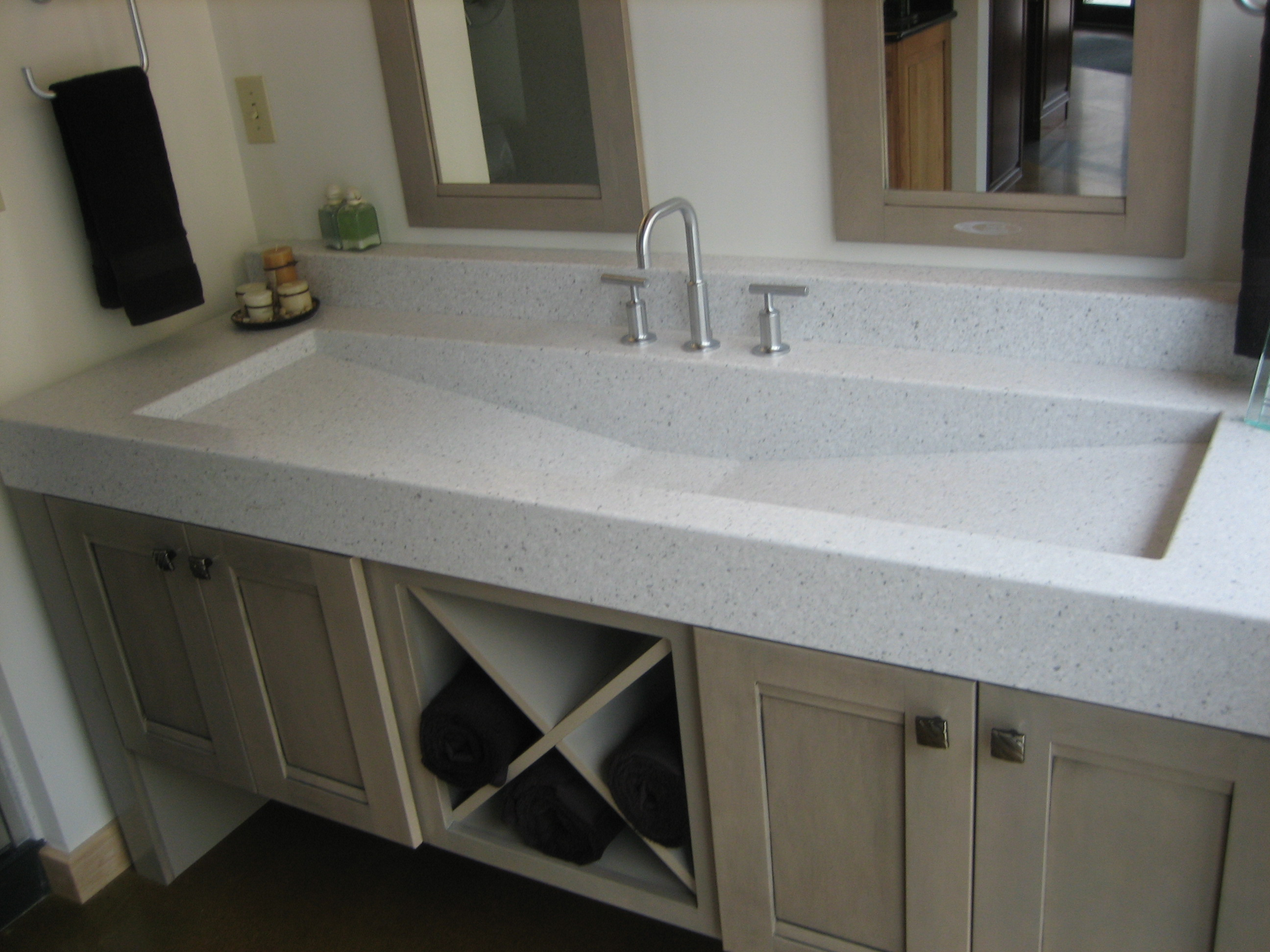 cool trough sink installed on bathroom vanity units and amazing vanity countertop plus double framed vanity countertops double sink calypso