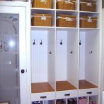 cool wooden mudroom storage units with shelves and pretty boxes and drawers plus shoes storage and fiber glass door tile flooring for home furniture ideas