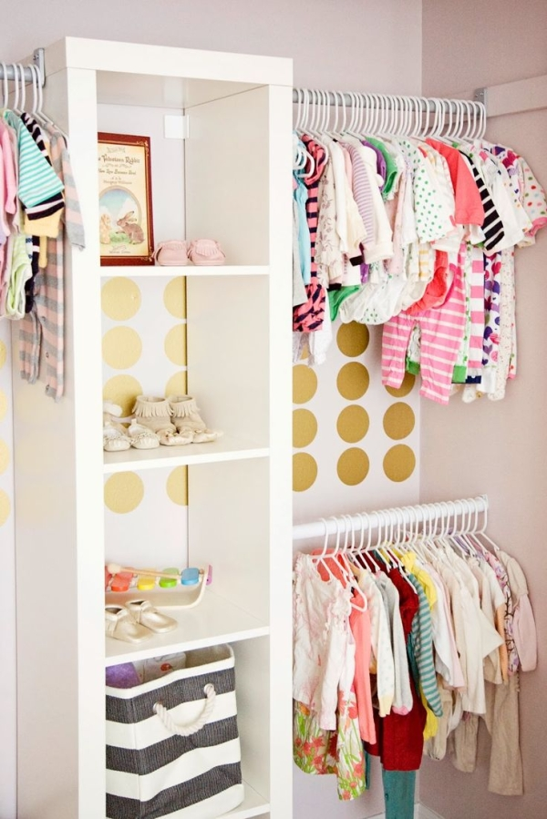 Cute Closet Organizer Ideas And Shelf With Hanging Rod For Kidu0027s Clothes  And Shoes Plus Cute