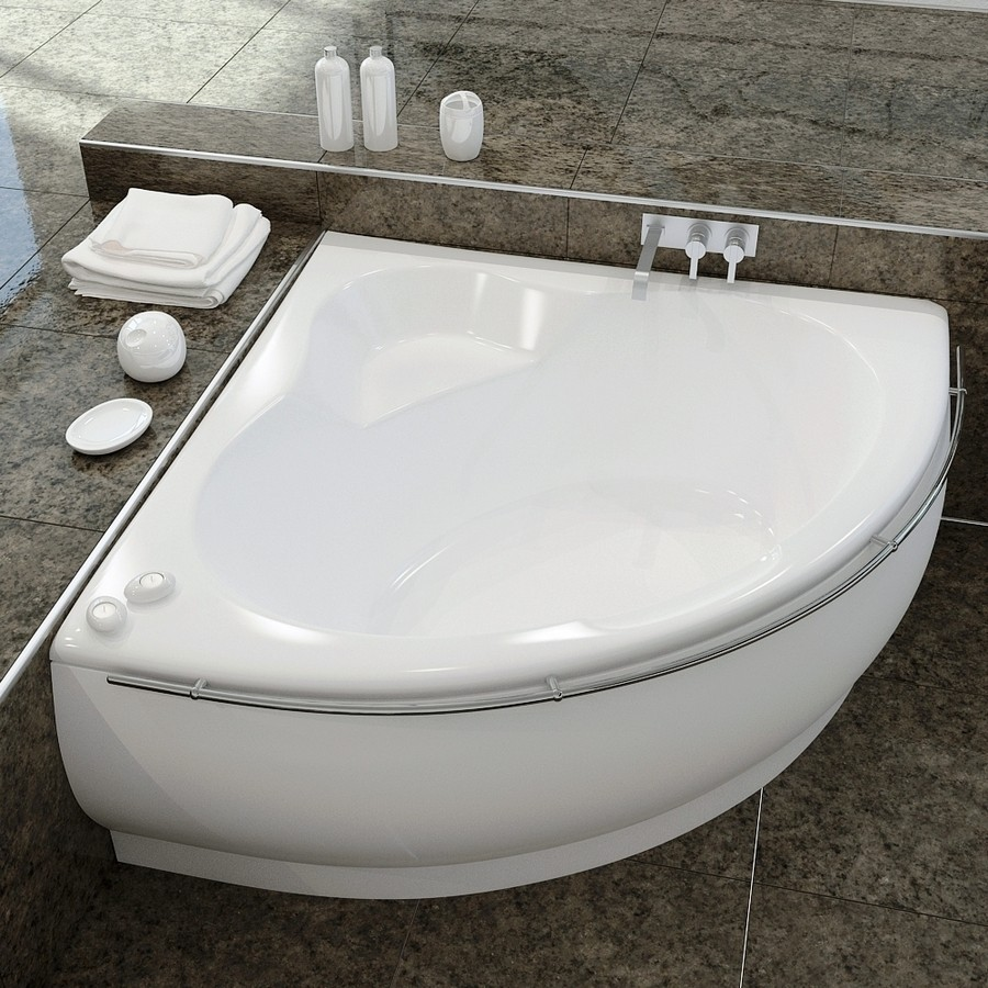 Small Corner Bath : ... small bathrooms with ceramic tile floor in modern style bathroom ideas