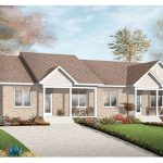 duplex home plan for multi family home