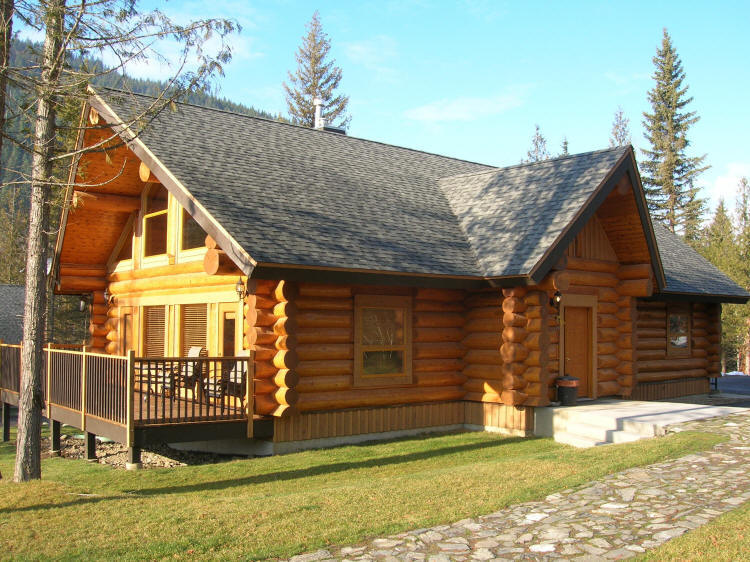 Log homes plans and designs homesfeed for Elegant log homes