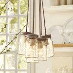 fancy mason jar lighting fixtures that hanging on the ceiling for beautiful home decoration