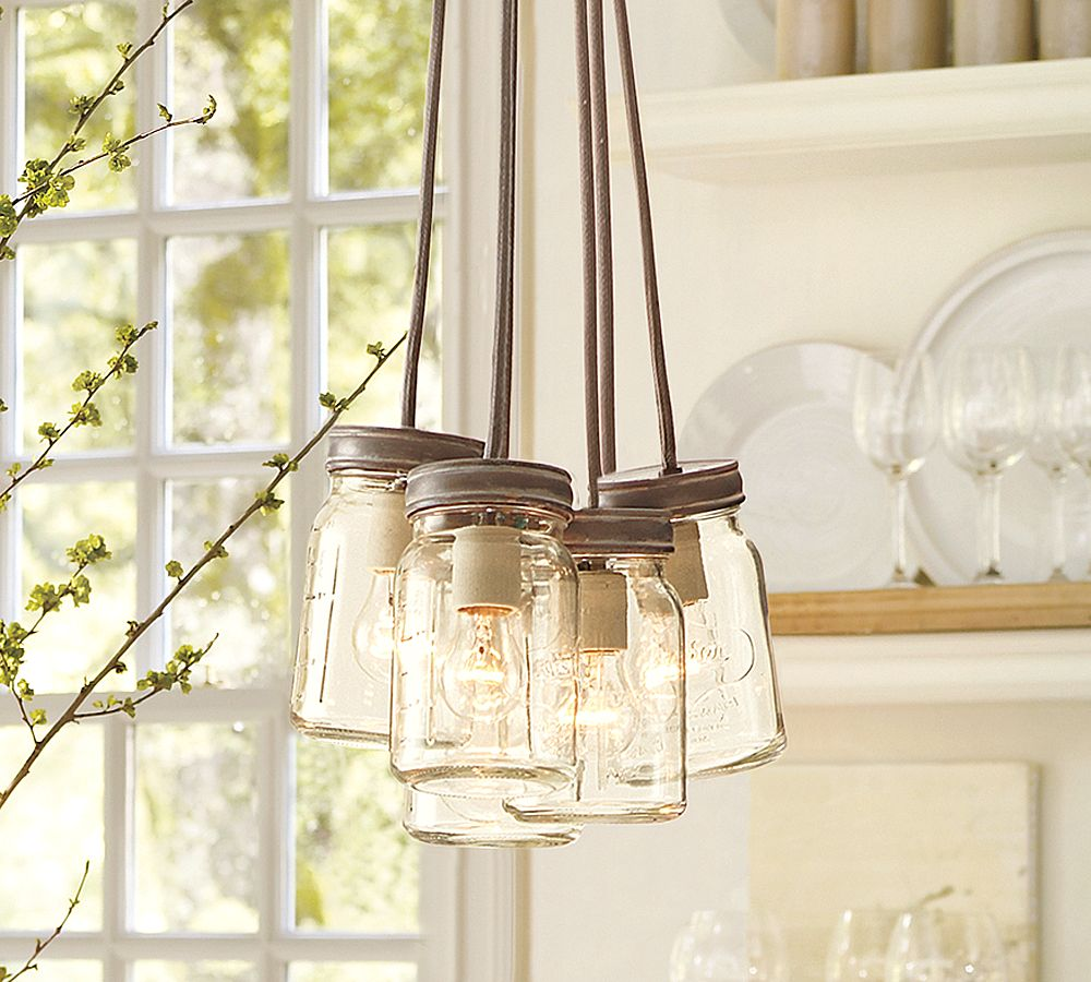 Find the uniqueness and breathtaking home lighting by installing fancy mason jar lighting fixtures that hanging on the ceiling for beautiful home decoration arubaitofo Gallery