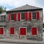 fascinating exterior color paint idea with bright red color for swing panel of windows