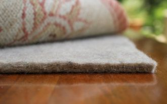 felt rug as best rug pads for hardwood floors placed under the rug for home interior