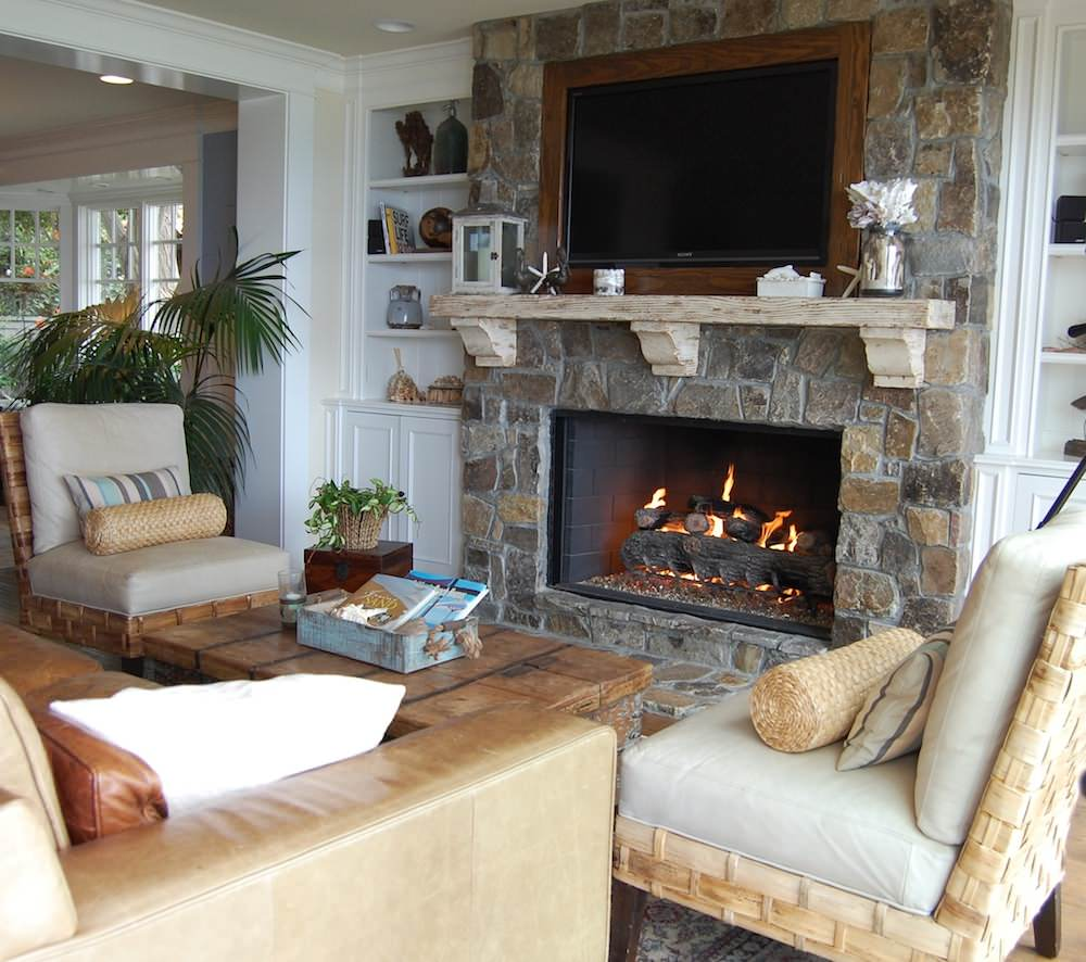 How to get the proper fireplace mantel height for the sake of safety homesfeed - Houses with fireplaces ...