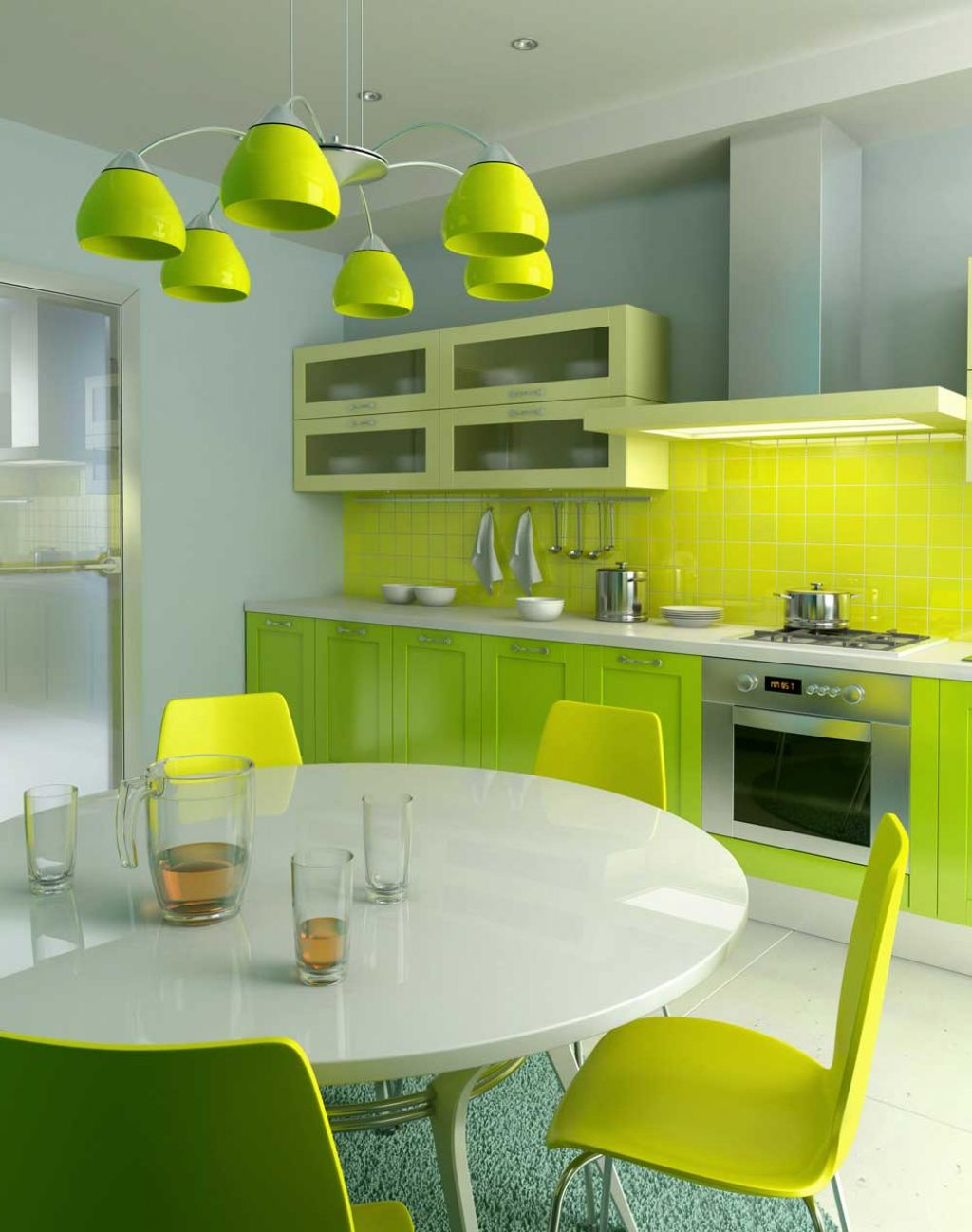 Color Your Modern Minimalist Kitchen With Soft Light