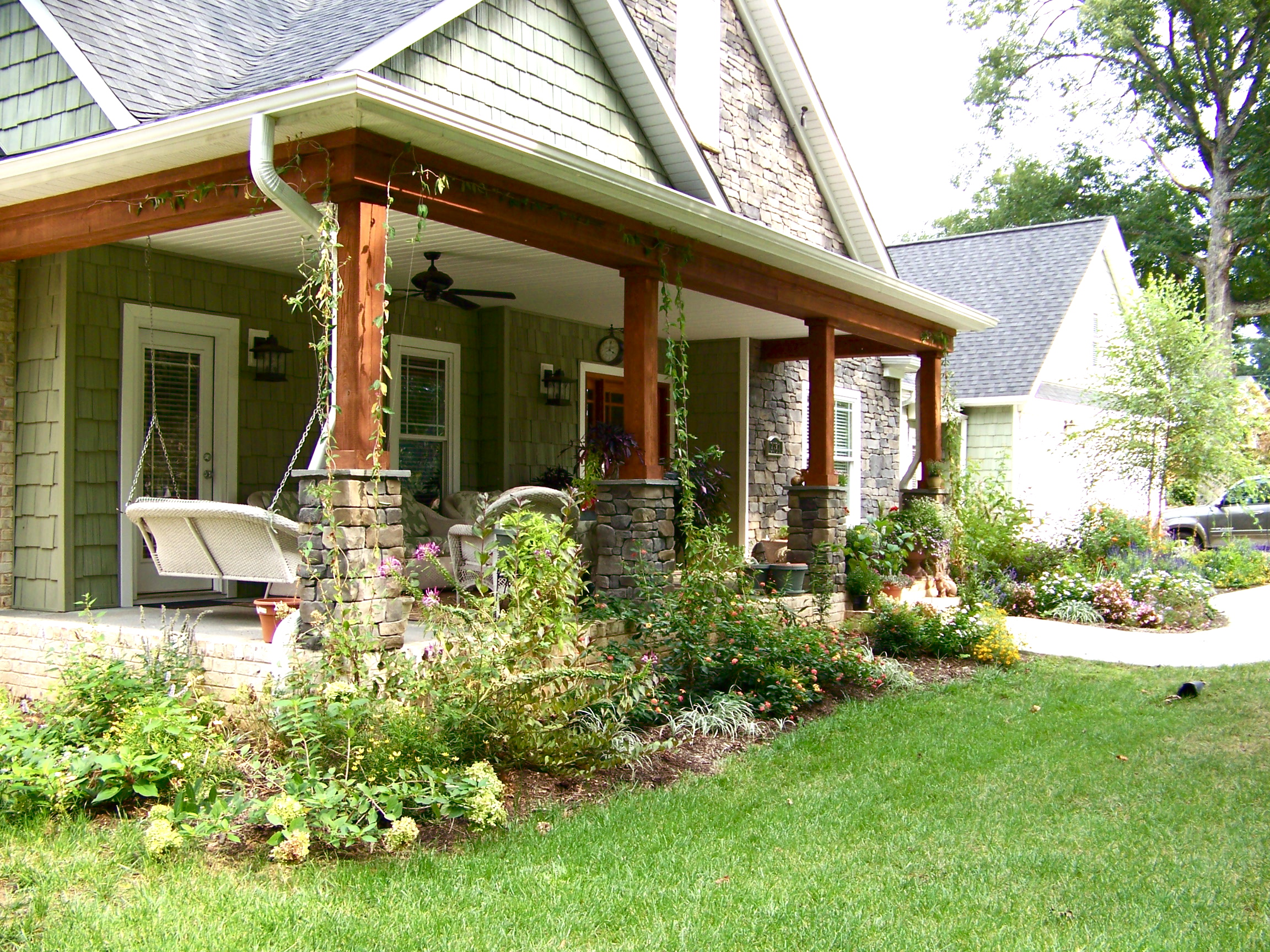 Front porch designs for ranch homes homesfeed - Natural home ...