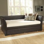 furniture-black-daybeds-with-trundles-with-white-bed-and-white-brown-pillow-on-laminate-flooring-beautiful-design-of-daybeds-with-trundles-showing-pretty-looks-for-your-inspiration