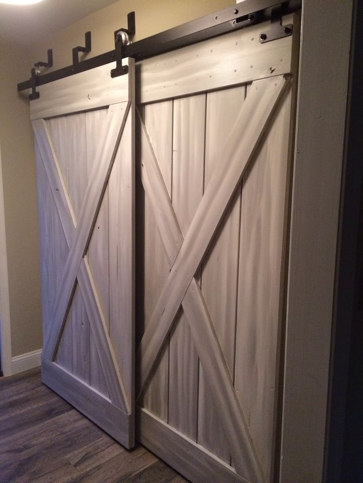Barn doors for closets that present rustic outlooks in for Barn door closet door ideas