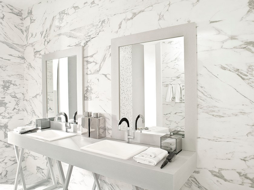 The porcelain tile that looks like marble which offers the for Salle de bains porcelanosa