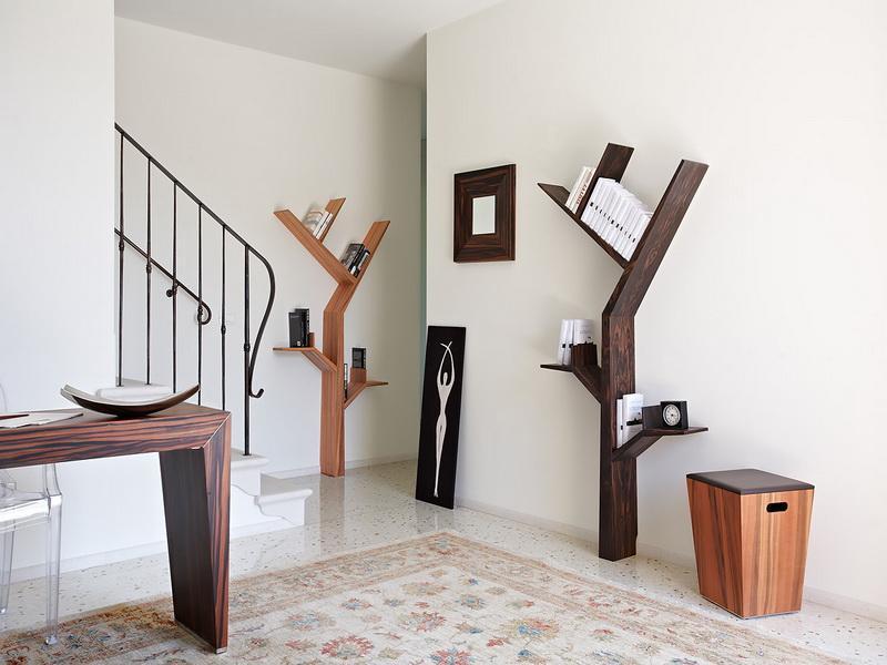 Tree shaped bookshelf a nice teaser to reveal your - Bookshelf shaped like a tree ...