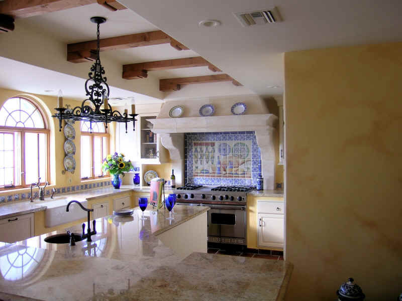 get your kitchen bathed with awe with the touch of ForSpanish Style Kitchen Backsplash