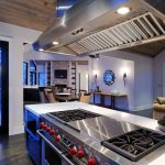 hibachi grill for home kitchen ideas with large lighting on ceiling