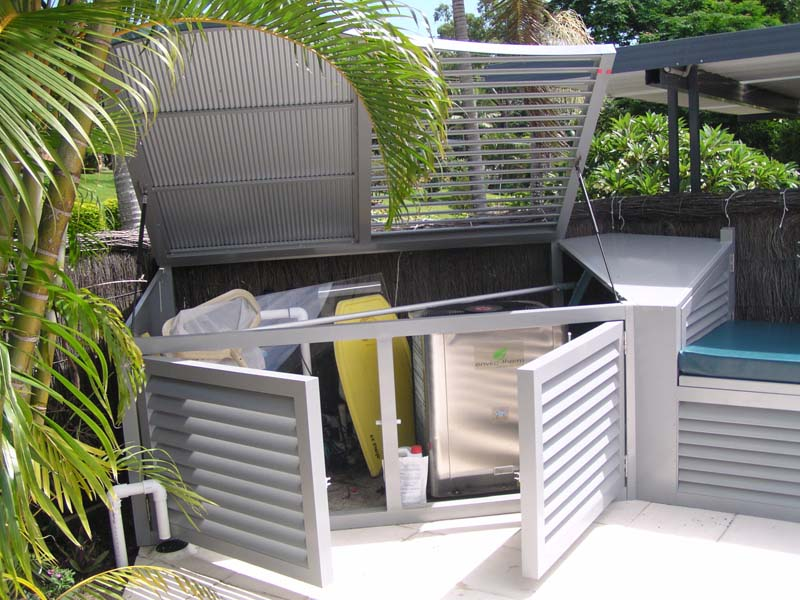 Pool equipment enclosures the best way to keep your for Pool equipment design