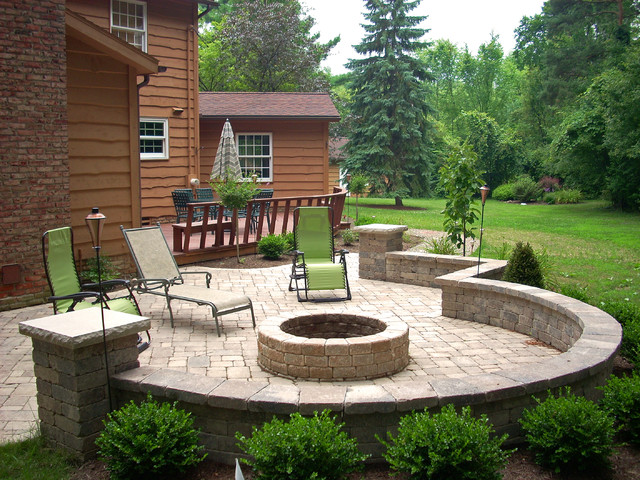 Patio With Fire Pit Shares Beautiful Awe Personality