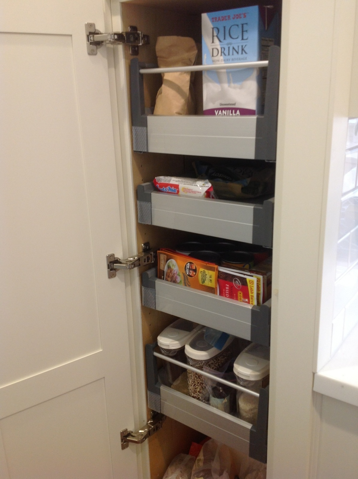 decorate ikea pull out pantry in your kitchen and say goodbye to your