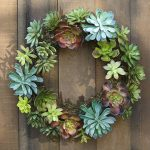 indoor and outdoor pottery barn wreaths with green easter plant to beautify home decoration