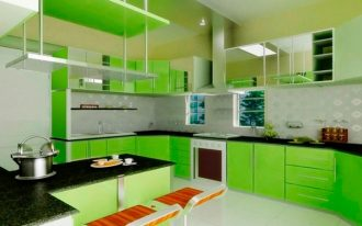kitchen-cheap-small-green-kitchens-with-black-ubatuba-granite-countertops-and-wall-mount-range-hood-also-white-ceramic-flooring-fresh-green-kitchens-decoration