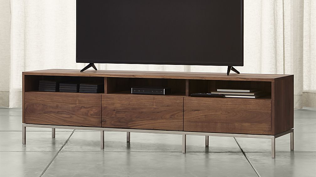 Low Profile Media Console With Storage Combined Large Tv For Home Furniture Ideas