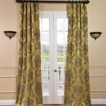 magdalena evening hue curtain idea with floral pattern for bar glass french door between wall lanternson cream wall with wooden floor