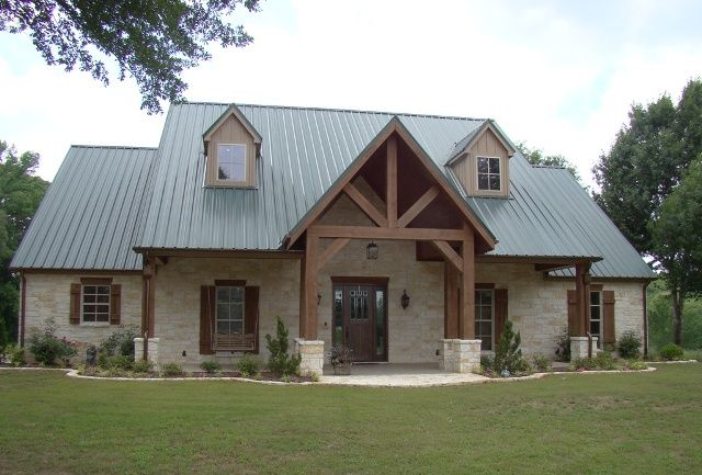 Texas Home Exteriors reds grays texas home exteriors compressor Medium Size Texas Hill Country Home Design With Log Pillars Construction And Metal Roofs