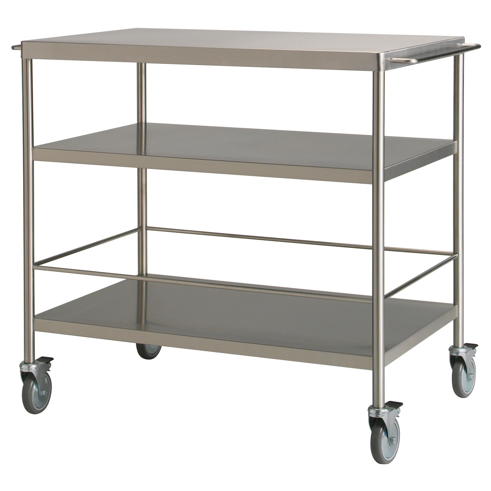Incroyable Microwave Cart Ikea In Steel With Wheel And Shelving For Home Kitchen  Furniture