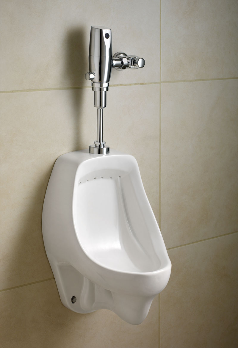 Modern Ceramic Residential Urinal In Menu0027s Bathroom With Tiled Wall
