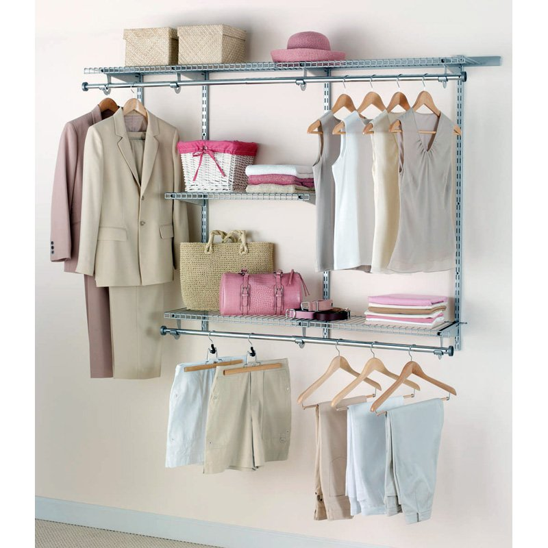 Wall Shelf With Hanging Rod a dazzling closet organizer with the shelf with hanging rods