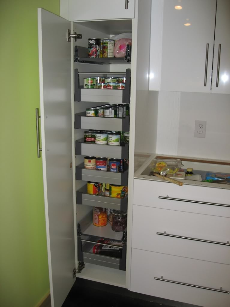 Decorate ikea pull out pantry in your kitchen and say for Kitchen storage ideas