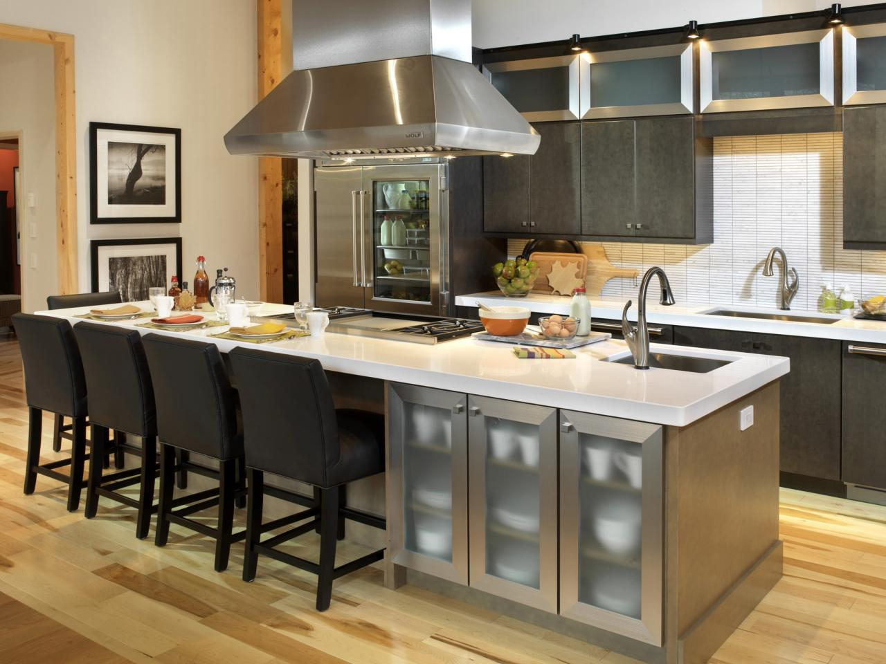 Upgrade your kitchen to be a cool hang out spot with - Small kitchen islands with seating and storage ...