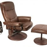 most comfortable reading chair in brown leather material completed with remote control and foot stool home furniture ideas