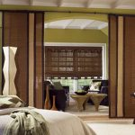 natural graber blinds with sliding panel for bedroom decoration ideas with divan bed and wooden square table