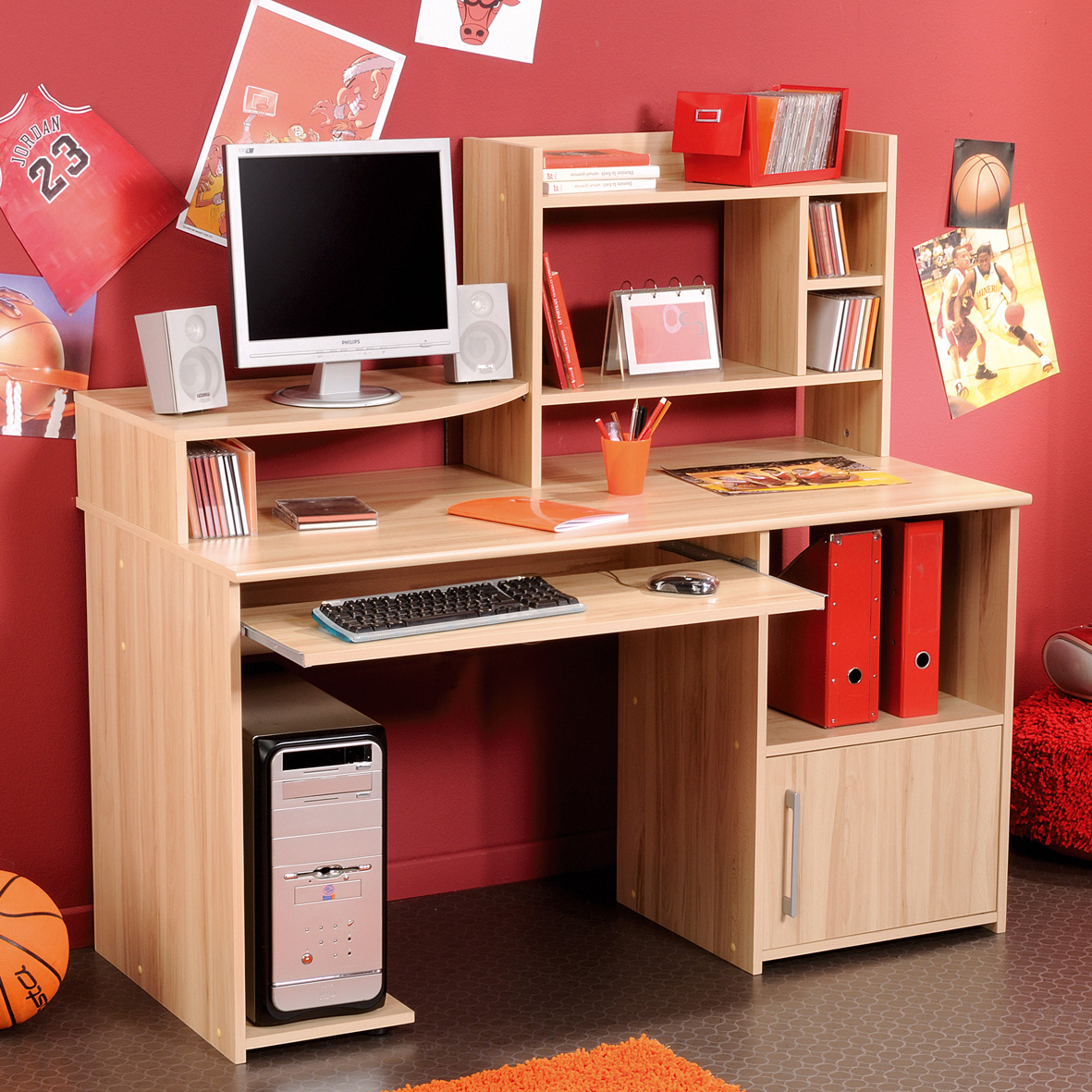 Boost Your Kids Spirit To Study With Adorable Student Desk