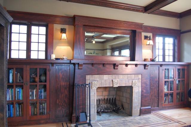 Creative craftsman fireplace design homesfeed for Craftsman fireplace designs