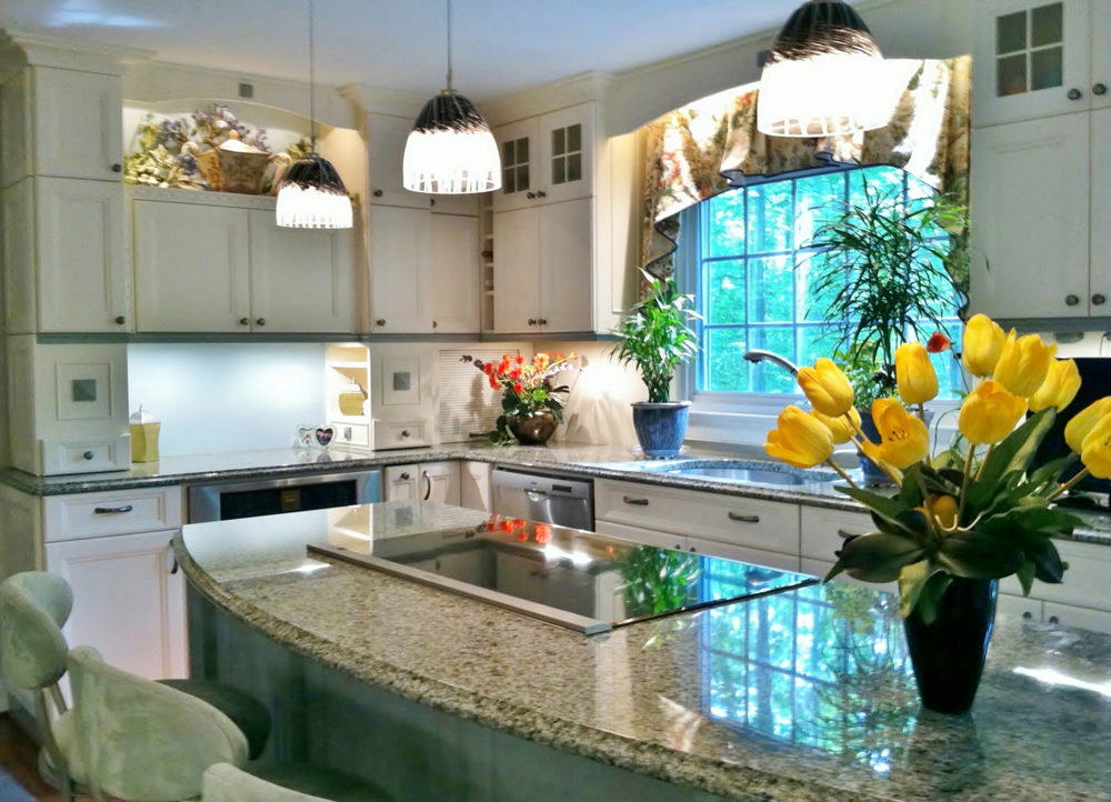 nice kitchen remodeling northern va with white kitchen cabinets together with granite countertop and pretty vase